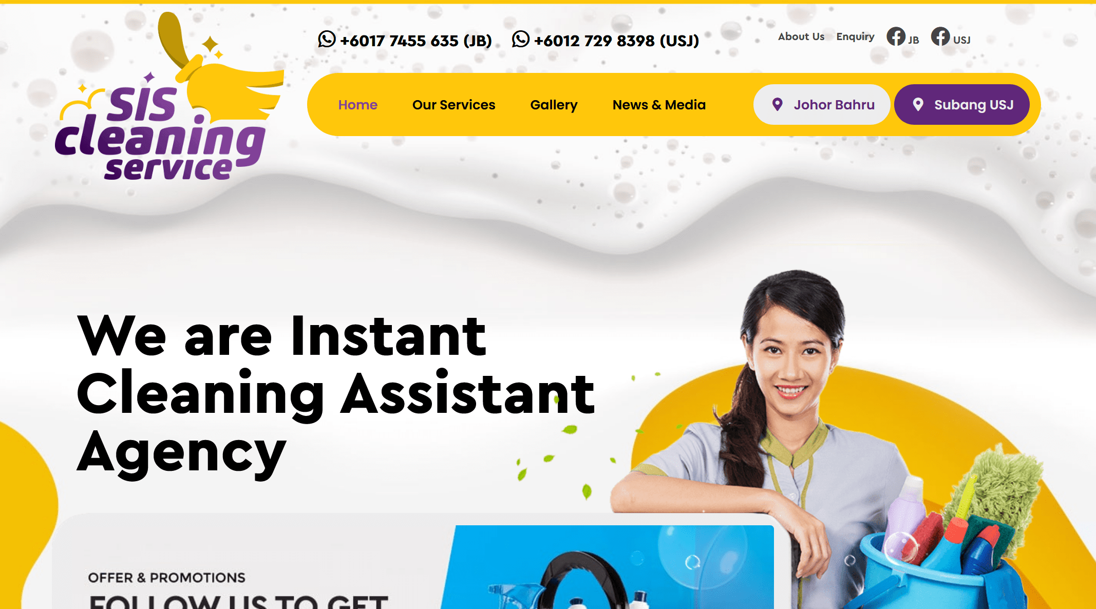 Cleaning Service in Johor and Selangor.